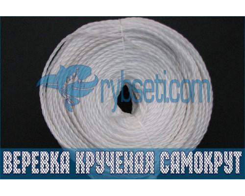 Веревка крученая (полипропиленовая) САМОКРУТ 4,0 мм