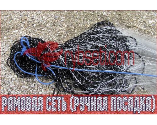 Рыболовная рамовая сеть (ручная посадка) CRAYFISH (на шнурах) 75мм-0,25мм-2,0м-50м
